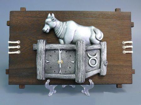 Купить Настенные часы Телец в интернет-магазине подарков. Огромный выбор необычных подарков и сувениров широкого ценового диапазона!