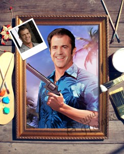 Портрет по фото *Мужчина с револьвером* от Долина Подарков
