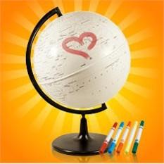 Глобус путешественникаОригинальный глобус для настоящего путешественника<br>