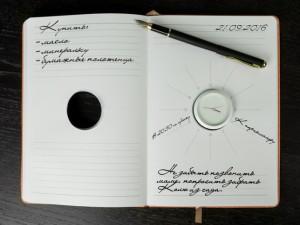 """Именной ежедневник с часами """"Орандж"""" от Долина Подарков"""