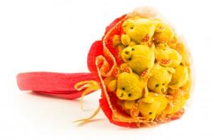 """Букет из игрушек """"Праздник"""" 11 мишек от Долина Подарков"""