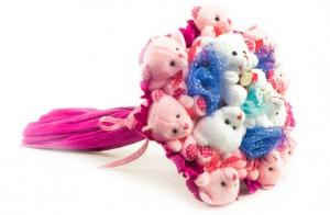 """Букет из игрушек """"Вечеринка"""" 11 мишек от Долина Подарков"""