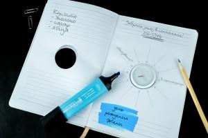 """Именной ежедневник с часами """"Список самых важных дел"""" светло-серый от Долина Подарков"""