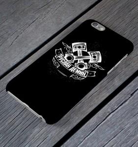 """Именной чехол для iPhone """"Двигатель"""" черный от Долина Подарков"""