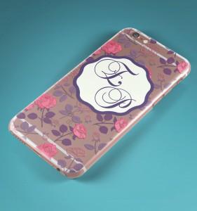 """Именной чехол для iPhone """"Монограмма"""" прозрачный от Долина Подарков"""