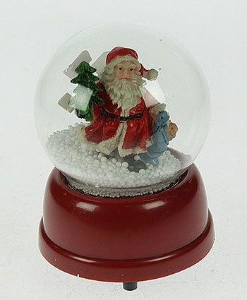 Музыкальный шар со снегом *Дедушка Мороз*