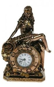 """Настольные часы \""""Богиня счастья и удачи\"""" от Долина Подарков"""