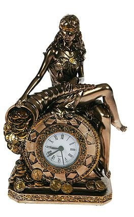 """Настольные часы \""""Богиня счастья и удачи\"""""""