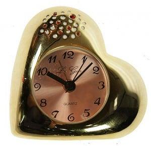 """Часы - будильник \""""Золотое сердце\"""" от Долина Подарков"""