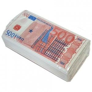 Салфетки 500 евро от Долина Подарков