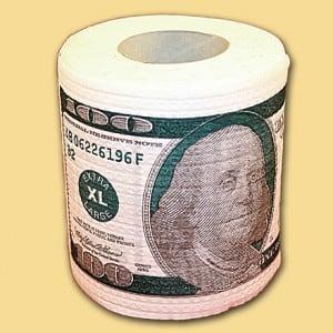 Туалетная бумага 100 долларов от Долина Подарков