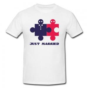 Футболка *Just Married* мужская от Долина Подарков