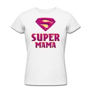 Футболка *Супер Мама*Яркая футболка с забавной надписью<br>