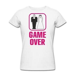 Футболка *Game Over* женская от Долина Подарков