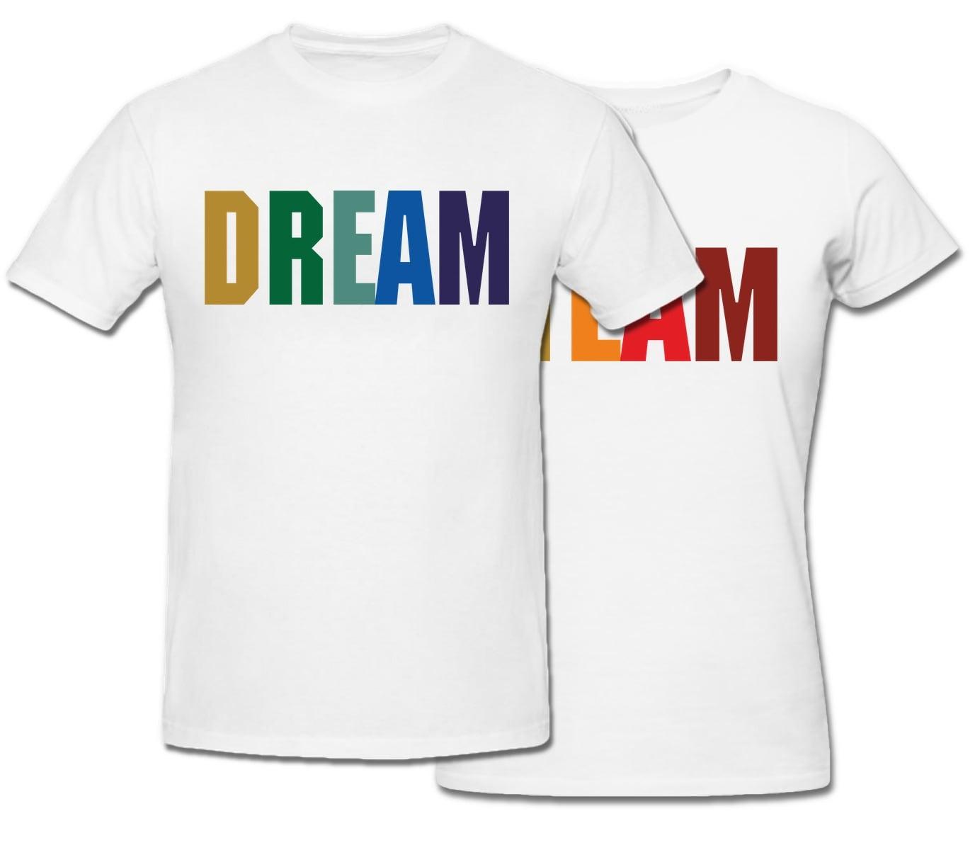 Комплект прикольных парных футболок с принтом *Dream Team*