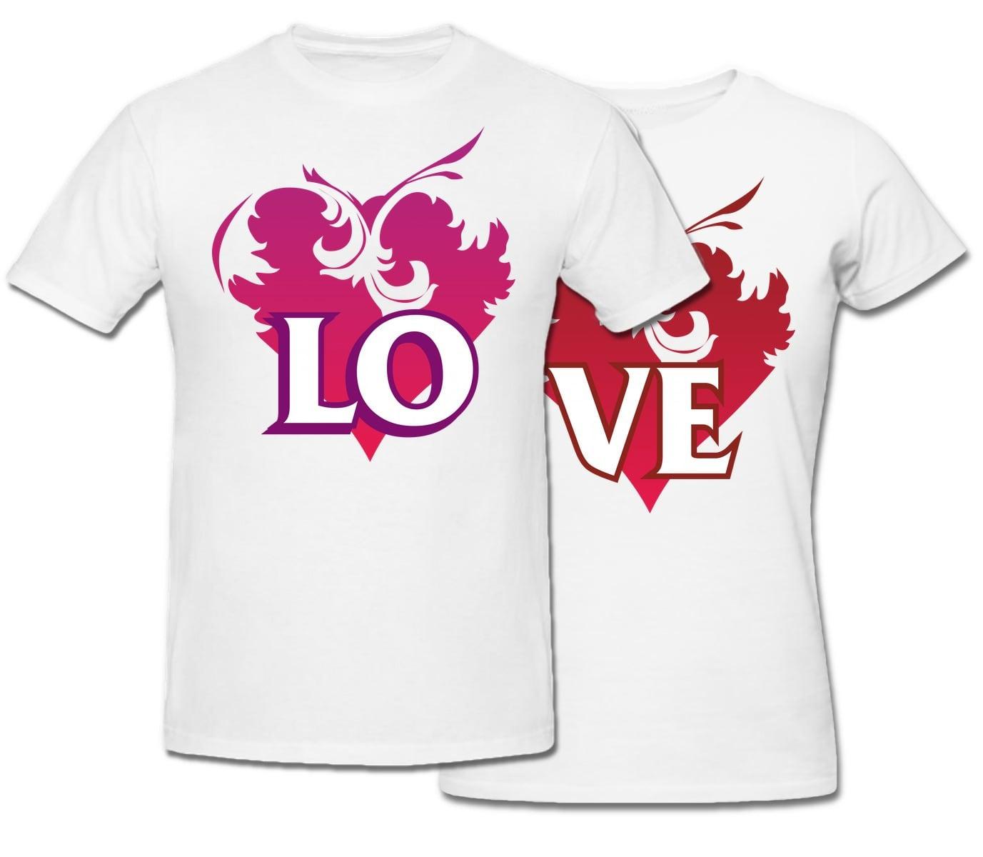 Комплект прикольных парных футболок *Love*