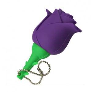 Флешка *Роза* (синяя) от Долина Подарков