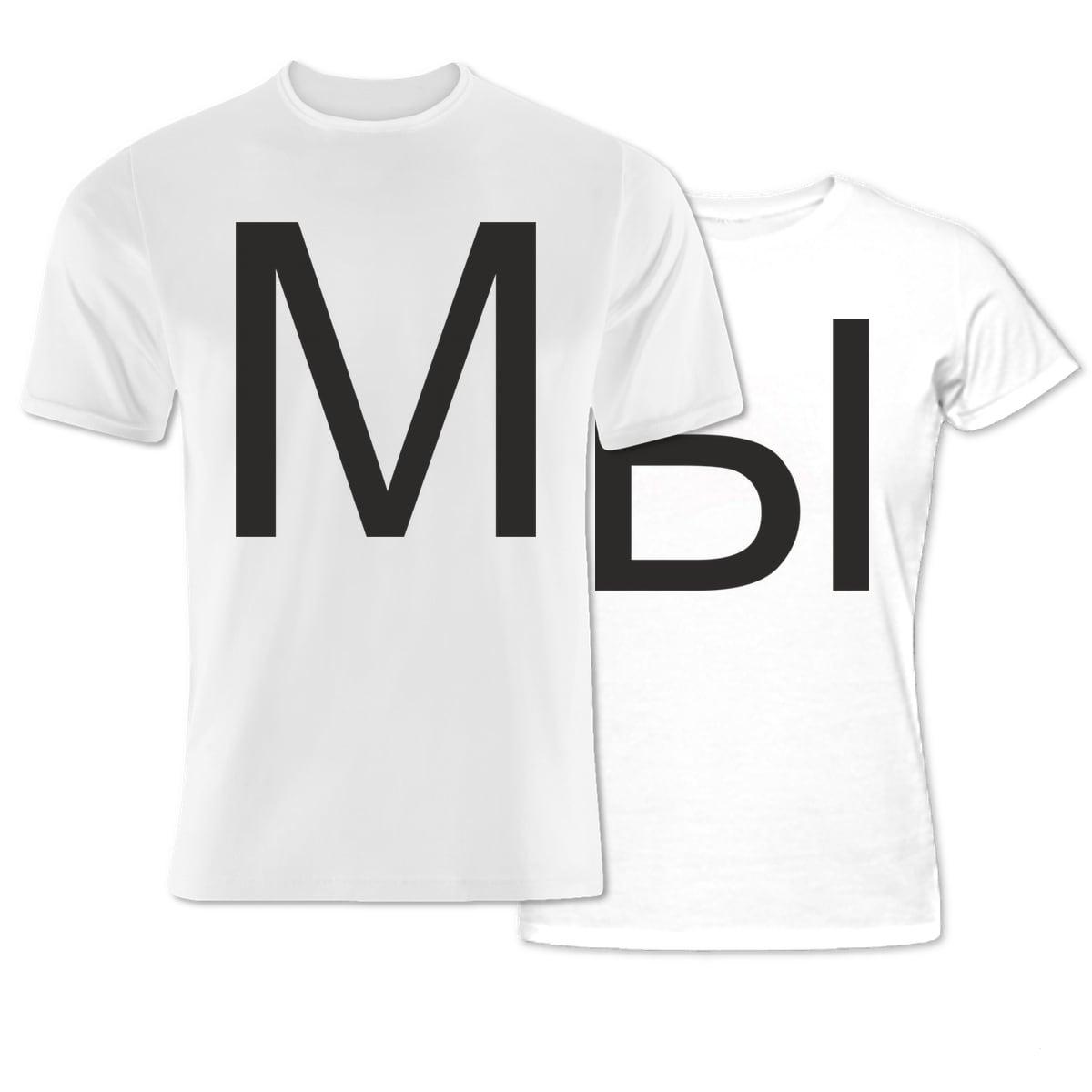 Комплект прикольных парных футболок с принтом *МЫ*