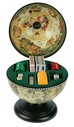 Купить Глобус-казино настольный в интернет-магазине подарков. Огромный выбор необычных подарков и сувениров широкого ценового диапазона!