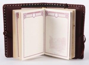 Ежедневник с кожаной обложкой формат А6 от Долина Подарков