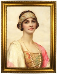 Портрет по фото *Девушка с жемчужным ожерельем* от Долина Подарков