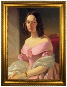 Портрет по фото *Леди в розовом*Оригинальный портрет, изготовленный по фотографии<br>