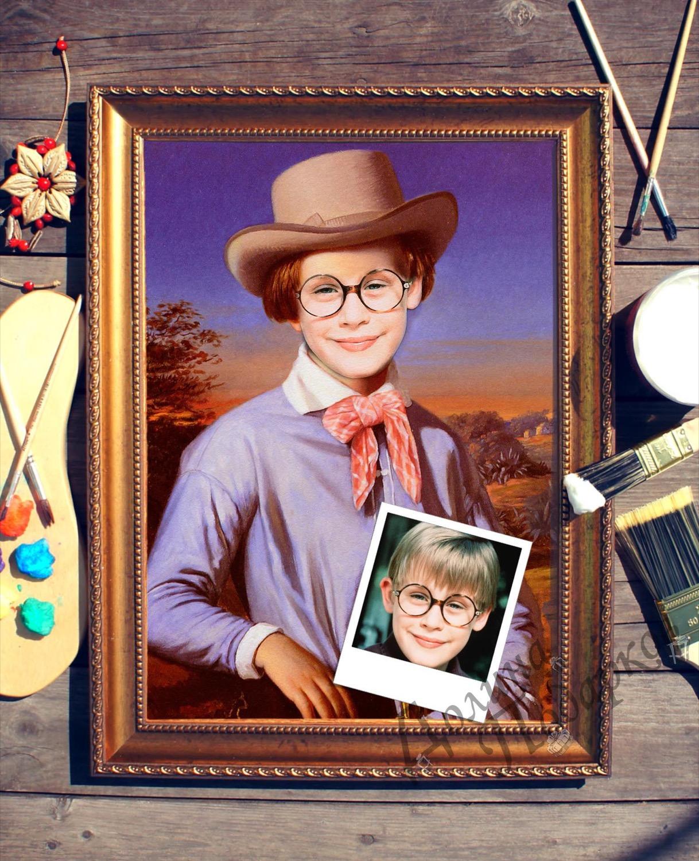Купить Портрет по фото *Мальчик в шляпе* в интернет-магазине подарков. Огромный выбор необычных подарков и сувениров широкого ценового диапазона!