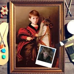 Портрет по фото *Лошадка качалка* от Долина Подарков