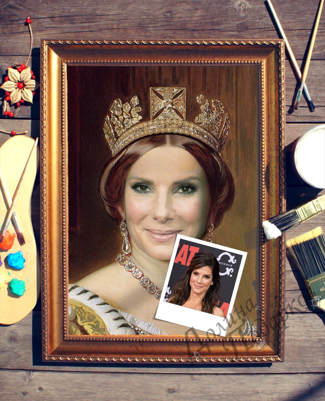 Купить Портрет по фото *Королева* в интернет-магазине подарков. Огромный выбор необычных подарков и сувениров широкого ценового диапазона!