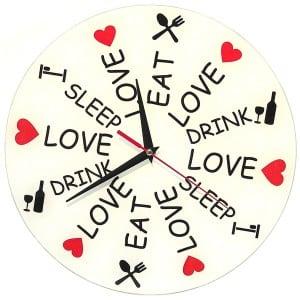 Часы *Еда Любовь и Сон* от Долина Подарков