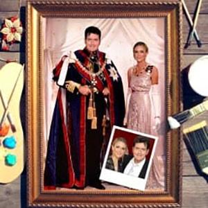 Парный портрет по фото *Королевская чета*Оригинальный портрет, изготовленный по фотографии<br>