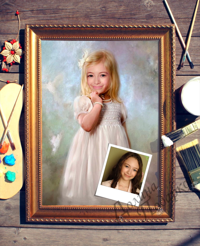 Купить Портрет по фото *Девочка* в интернет-магазине подарков. Огромный выбор необычных подарков и сувениров широкого ценового диапазона!