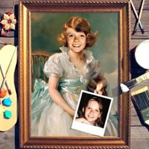 Портрет по фото *Маленькая принцесса* от Долина Подарков