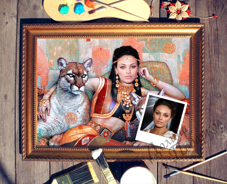 Портрет по фото *Восточная принцесса*