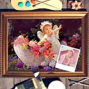 Портрет по фото *Маленький ангелочек*Оригинальный портрет, изготовленный по фотографии<br>