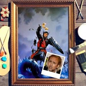 Портрет по фото *Рыцарь - победитель драконов*Оригинальный портрет, изготовленный по фотографии<br>