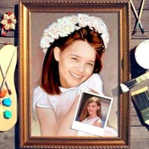 Портрет по фото *Девочка в белом* от Долина Подарков