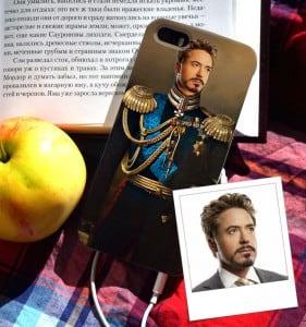 Чехол для iPhone с вашим портретом *Кавалерист* от Долина Подарков