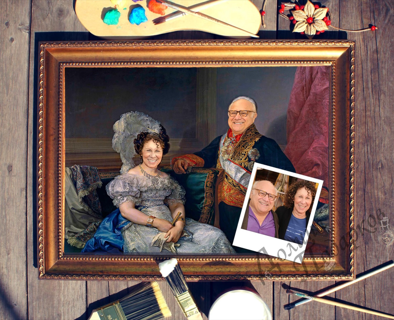 Купить Парный портрет по фото *Муж и жена* в интернет-магазине подарков. Огромный выбор необычных подарков и сувениров широкого ценового диапазона!