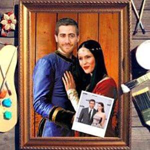 Парный портрет по фото *Сказочная пара*Оригинальный портрет, изготовленный по фотографии<br>