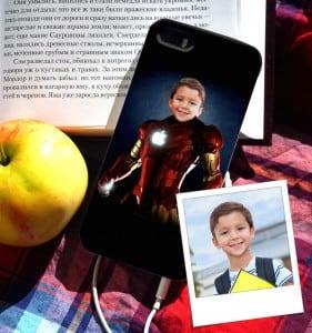 """Чехол для iPhone с вашим фото """"Железный человек"""" от Долина Подарков"""