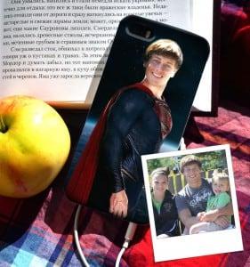 """Чехол для iPhone с вашим фото """"Супермен"""" от Долина Подарков"""