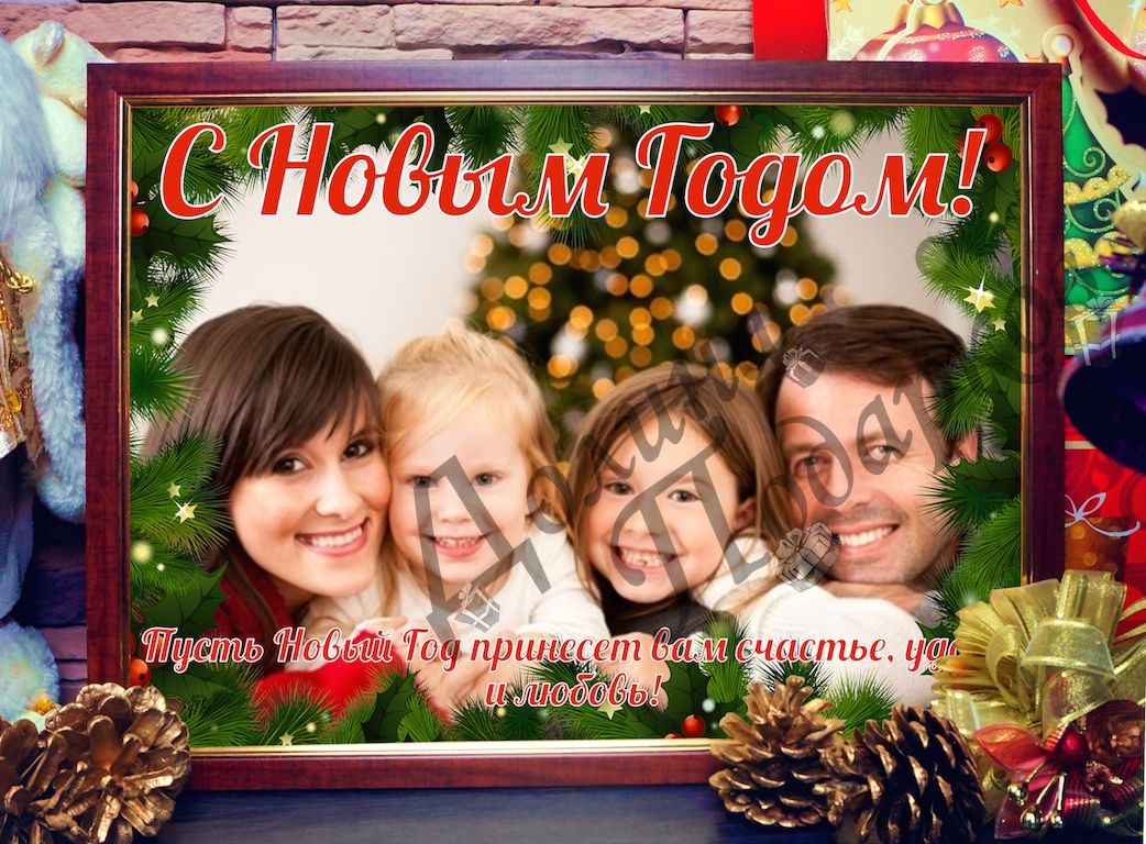 Новогоднее фото на холсте - 2