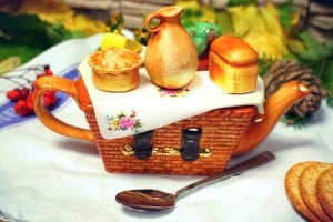 Чайник *Пикник*Уникальный керамический чайник ручной работы<br>