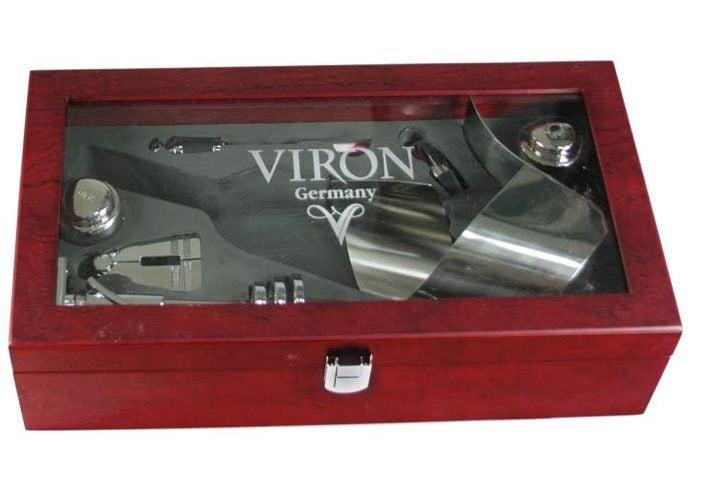 Набор для винной церемонии в футляре со стеклом