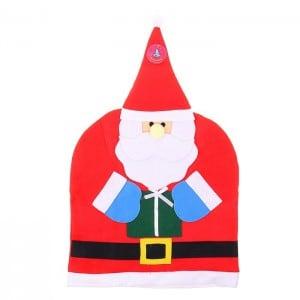 Чехол на спинку стула Дед МорозЗабавный новогодний аксессуар<br>