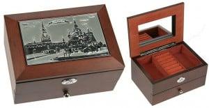 Шкатулка для ювелирных украшений Москва (2 яруса) от Долина Подарков