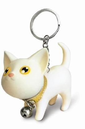 Купить Забавный брелок *Котенок* - белый в интернет-магазине подарков. Огромный выбор необычных подарков и сувениров широкого ценового диапазона!