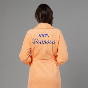 Женский халат с вышивкой Миссис женский халат с вышивкой лучшая в мире жена