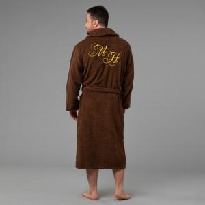 """Мужской халат с вышивкой """"Инициалы"""""""
